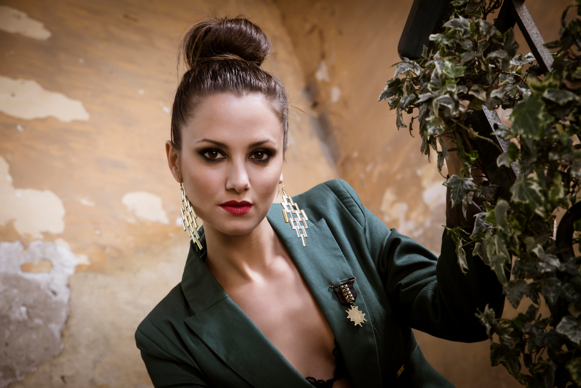 Elena military dress